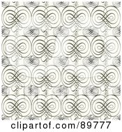 Royalty Free RF Clipart Illustration Of A Seamless Swirly Pattern Background Version 3 by BestVector