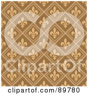 Royalty Free RF Clipart Illustration Of A Seamless Fleur De Lys Pattern Background Version 1 by BestVector