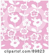 Royalty Free RF Clipart Illustration Of A Seamless Daisy Pattern Background Version 6 by BestVector