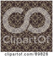 Royalty Free RF Clipart Illustration Of A Seamless Crest Pattern Background Version 10