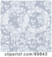Royalty Free RF Clipart Illustration Of A Seamless Rose Pattern Background Version 1