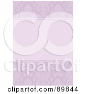 Royalty Free RF Clipart Illustration Of An Invitation Border And Frame With Copyspace Version 11