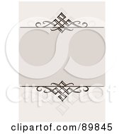 Royalty Free RF Clipart Illustration Of An Invitation Border And Frame With Copyspace Version 7