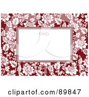 Royalty Free RF Clipart Illustration Of A Floral Invitation Border And Frame With Copyspace Version 25