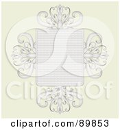 Royalty Free RF Clipart Illustration Of An Invitation Border And Frame With Copyspace Version 9