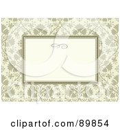 Royalty Free RF Clipart Illustration Of A Floral Invitation Border And Frame With Copyspace Version 36