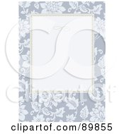 Royalty Free RF Clipart Illustration Of A Rose Invitation Border And Frame With Copyspace Version 2