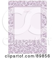Royalty Free RF Clipart Illustration Of A Floral Invitation Border And Frame With Copyspace Version 33
