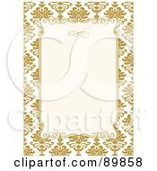 Royalty Free RF Clipart Illustration Of An Invitation Border And Frame With Copyspace Version 12