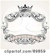 Royalty Free RF Clipart Illustration Of An Invitation Border And Frame With Copyspace Version 6 by BestVector
