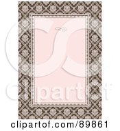 Royalty Free RF Clipart Illustration Of An Invitation Border And Frame With Copyspace Version 10