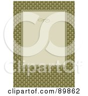 Royalty Free RF Clipart Illustration Of An Invitation Border And Frame With Copyspace Version 14