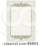 Royalty Free RF Clipart Illustration Of An Invitation Border And Frame With Copyspace Version 8