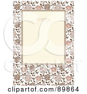 Royalty Free RF Clipart Illustration Of A Rose Invitation Border And Frame With Copyspace Version 5