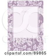 Royalty Free RF Clipart Illustration Of A Rose Invitation Border And Frame With Copyspace Version 4