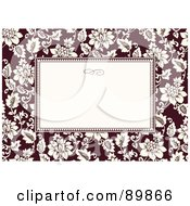 Royalty Free RF Clipart Illustration Of A Rose Invitation Border And Frame With Copyspace Version 1