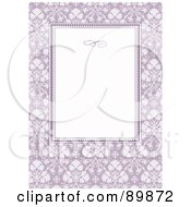 Royalty Free RF Clipart Illustration Of A Floral Invitation Border And Frame With Copyspace Version 32