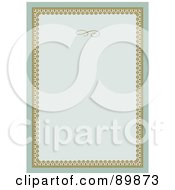 Royalty Free RF Clipart Illustration Of An Invitation Border And Frame With Copyspace Version 3