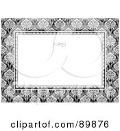 Royalty Free RF Clipart Illustration Of A Floral Invitation Border And Frame With Copyspace Version 34