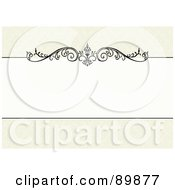 Royalty Free RF Clipart Illustration Of A Floral Invitation Border And Frame With Copyspace Version 30