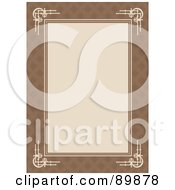 Royalty Free RF Clipart Illustration Of An Invitation Border And Frame With Copyspace Version 4