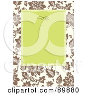 Royalty Free RF Clipart Illustration Of A Rose Invitation Border And Frame With Copyspace Version 7