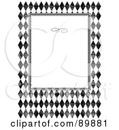 Royalty Free RF Clipart Illustration Of An Invitation Border And Frame With Copyspace Version 13