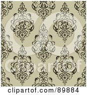 Royalty Free RF Clipart Illustration Of A Seamless Swirly Pattern Background Version 4 by BestVector