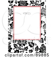 Royalty Free RF Clipart Illustration Of A Rose Invitation Border And Frame With Copyspace Version 3 by BestVector