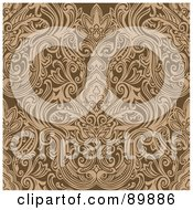 Royalty Free RF Clipart Illustration Of A Seamless Crest Pattern Background Version 4