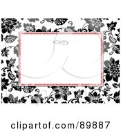 Royalty Free RF Clipart Illustration Of A Rose Invitation Border And Frame With Copyspace Version 6 by BestVector