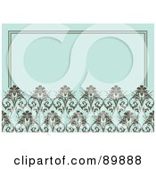 Royalty Free RF Clipart Illustration Of A Floral Invitation Border And Frame With Copyspace Version 4