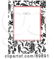 Royalty Free RF Clipart Illustration Of A Floral Invitation Border And Frame With Copyspace Version 29