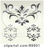 Royalty Free RF Clipart Illustration Of A Digital Collage Of Ornate Designs On Beige