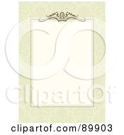 Royalty Free RF Clipart Illustration Of A Decorative Invitation Border And Frame With Copyspace Version 14