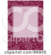 Royalty Free RF Clipart Illustration Of A Floral Invitation Border And Frame With Copyspace Version 6