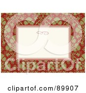 Royalty Free RF Clipart Illustration Of A Christmas Invitation Border And Frame With Copyspace Version 6