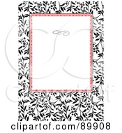 Royalty Free RF Clipart Illustration Of A Floral Invitation Border And Frame With Copyspace Version 16