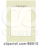 Royalty Free RF Clipart Illustration Of A Floral Invitation Border And Frame With Copyspace Version 15