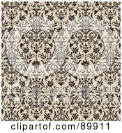 Royalty Free RF Clipart Illustration Of A Seamless Floral Pattern Background Version 1