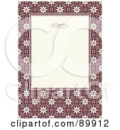 Royalty Free RF Clipart Illustration Of A Circle Pattern Invitation Border And Frame With Copyspace Version 3