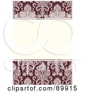 Royalty Free RF Clipart Illustration Of A Floral Invitation Border And Frame With Copyspace Version 24