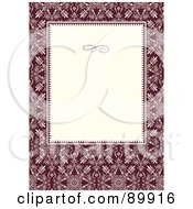 Royalty Free RF Clipart Illustration Of A Floral Invitation Border And Frame With Copyspace Version 20