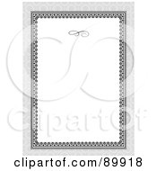 Royalty Free RF Clipart Illustration Of A Floral Invitation Border And Frame With Copyspace Version 12