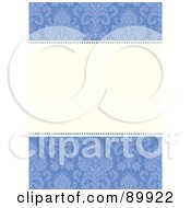 Royalty Free RF Clipart Illustration Of A Damask Patterned Invitation Border And Frame With Copyspace Version 1