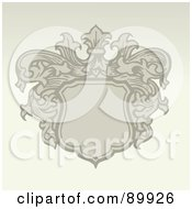 Royalty Free RF Clipart Illustration Of A Crest Pattern Invitation Border And Frame With Copyspace Version 2