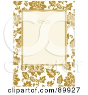 Royalty Free RF Clipart Illustration Of A Floral Invitation Border And Frame With Copyspace Version 17