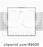 Royalty Free RF Clipart Illustration Of A Circle Pattern Invitation Border And Frame With Copyspace Version 1