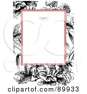 Royalty Free RF Clipart Illustration Of A Floral Invitation Border And Frame With Copyspace Version 1