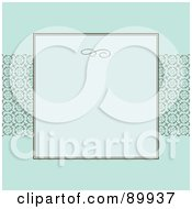 Royalty Free RF Clipart Illustration Of A Circle Pattern Invitation Border And Frame With Copyspace Version 5